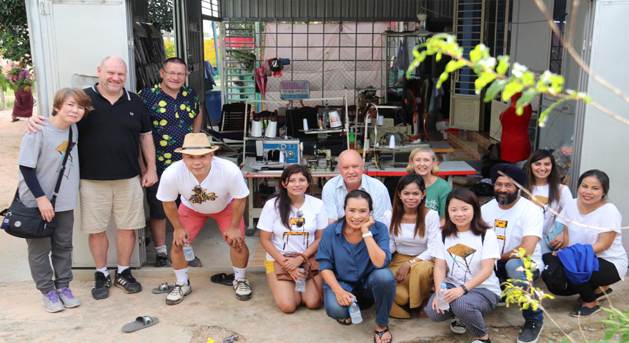 Changing lives in Cambodia Immersion Tour group