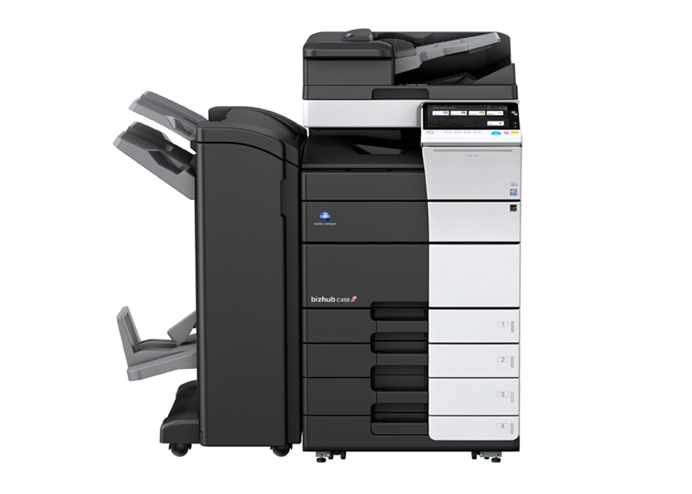 bizhub C458 A3 printer front view