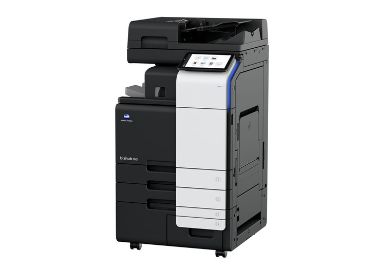 bizhub 360i A3 printer product view from side