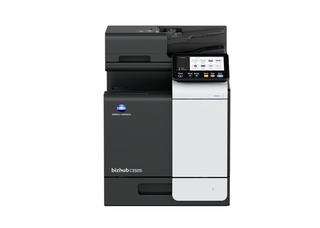 Front view of bizhub C3320i top performing A3 printer