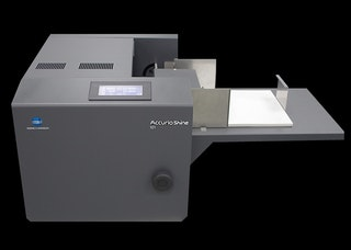AccurioShine 101 desk top coater system product view