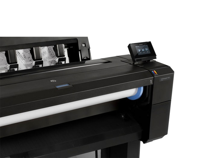 HP DesignJet T930 Printer product side view