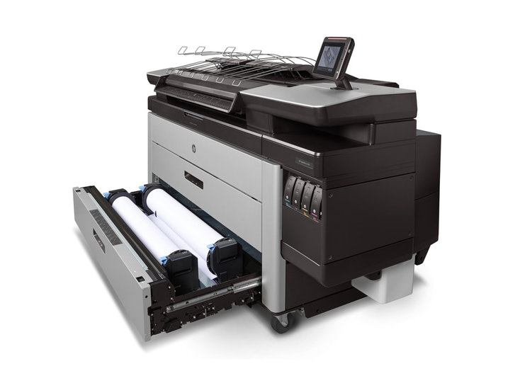 HP Pagewide XL4100 product with draw view